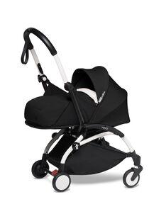 Poussette YOYO² 0-6 mois noire Babyzen : châssis blanc & nacelle noire. Composez votre pack !