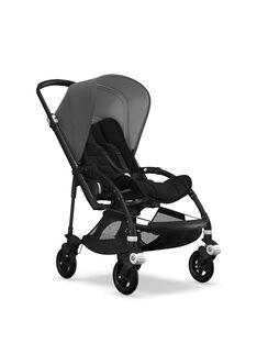 Poussette Bee5 dès 6 mois Bugaboo noire & grise : châssis & hamac noir, capote grise. Composez votre pack !