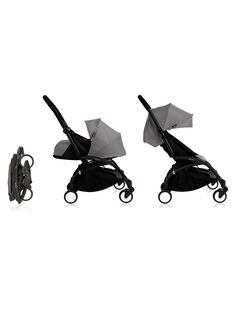 Poussette YOYO+ Babyzen grise cadre noir 0-4 ans