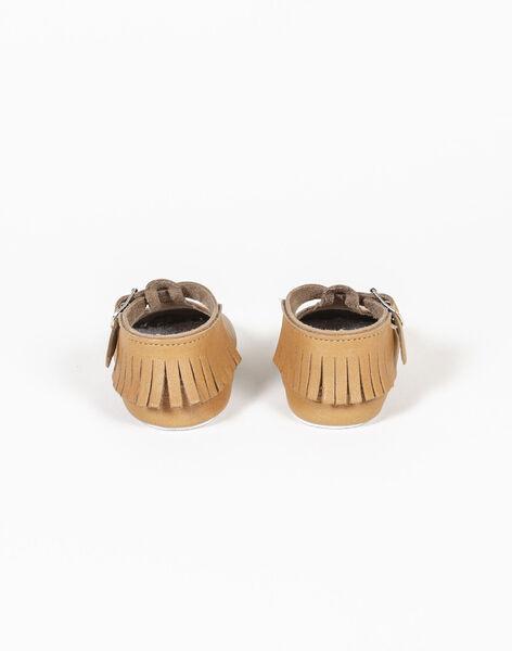 Chaussons en cuir personnalisables Caramel WEBCHAUSCAR420