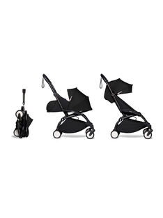 Poussette YOYO² complète 0-4 ans noire Babyzen : châssis noir, nacelle & hamac noirs. Composez votre pack !