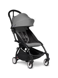 Poussette YOYO² 6 mois-4 ans grise Babyzen : châssis noir & hamac gris. Composez votre pack !