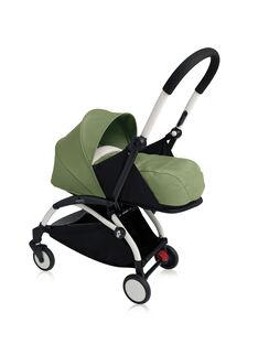 Poussette YOYO+ 0-6 mois peppermint Babyzen : châssis blanc & nacelle peppermint. Composez votre pack !