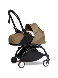 Poussette YOYO² 0-6 mois toffee Babyzen : châssis noir & nacelle toffee. Composez votre pack !