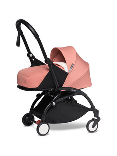 Poussette YOYO² 0-6 mois ginger Babyzen : châssis noir & nacelle ginger. Composez votre pack !
