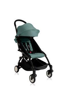 Poussette YOYO+ 6 mois-4 ans aqua Babyzen : châssis noir & hamac aqua. Composez votre pack !