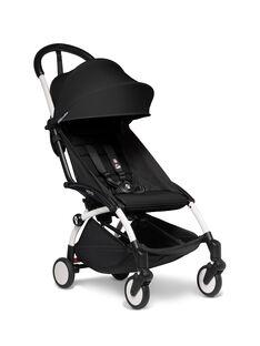 Poussette YOYO² 6 mois-4 ans noire Babyzen : châssis blanc & hamac noir. Composez votre pack !