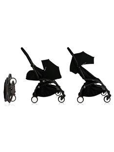 Poussette YOYO+ complète 0-4 ans noire Babyzen : châssis noir, nacelle & hamac noir. Composez votre pack !