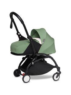Poussette YOYO² 0-6 mois peppermint Babyzen : châssis noir & nacelle peppermint. Composez votre pack !