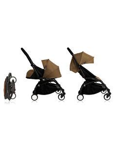 Poussette YOYO+ complète 0-4 ans toffee Babyzen : châssis noir, nacelle & hamac toffee. Composez votre pack !