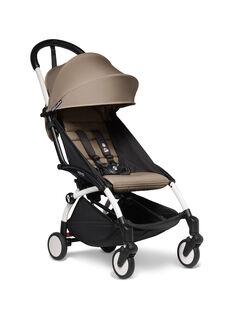 Poussette YOYO² 6 mois-4 ans taupe Babyzen : châssis blanc & hamac taupe. Composez votre pack !