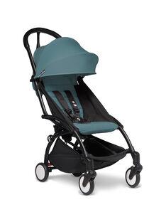 Poussette YOYO² 6 mois-4 ans aqua Babyzen : châssis noir & hamac aqua. Composez votre pack !