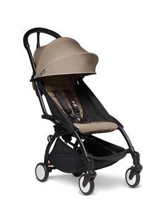 Poussette YOYO² 6 mois-4 ans taupe Babyzen : châssis noir & hamac taupe. Composez votre pack !