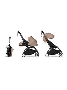 Poussette YOYO² complète 0-4 ans taupe Babyzen : châssis noir, nacelle & hamac taupe. Composez votre pack !