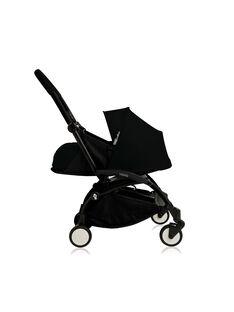 Poussette YOYO+ 0-6 mois Babyzen : châssis noir & nacelle noire. Composez votre pack !