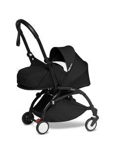 Poussette YOYO² 0-6 mois noire Babyzen : châssis & nacelle noirs. Composez votre pack !