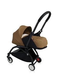 Poussette YOYO+ 0-6 mois toffee Babyzen : châssis noir & nacelle toffee. Composez votre pack !