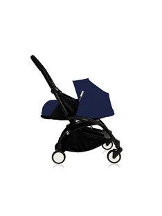 Poussette YOYO+ 0-6 mois bleu Air France Babyzen : châssis noir & nacelle bleu Air France. Composez votre pack !