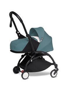 Poussette YOYO² 0-6 mois aqua Babyzen : châssis noir & nacelle aqua. Composez votre pack !