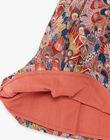 Robe et bloomer rose et rouge imprimé liberty en coton fille COLLINE 21 / 21VU1914N18E415