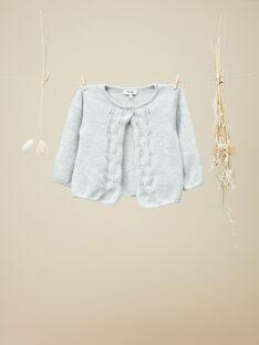 Cardigan tricot gris fille VEDEBORAH 19 / 19IU1912N11J920