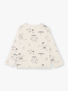 Tee-shirt enfant garçon manches longues en imprimé couleur lin CALVIN 468 21 / 21V129212N0F632