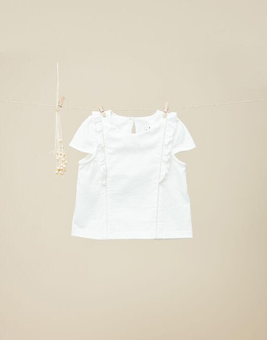 Tee-shirt manches courtes vanille fille  VALMALOU 19 / 19IU1911N0E114