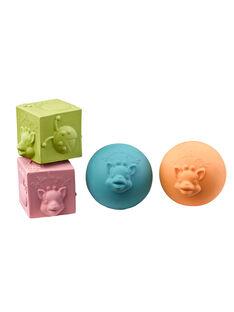 Set 2 balles et 2 cubes So pure Vulli SET 2 BALLES ET / 16PJJO024AJV999
