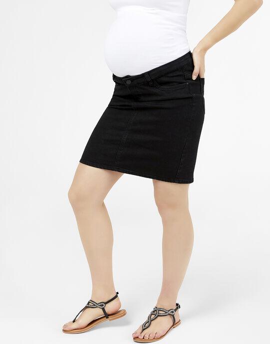 Jupe de grossesse en jean Mamalicious noire MLLOLA JUPE / 19IW2661N07K003