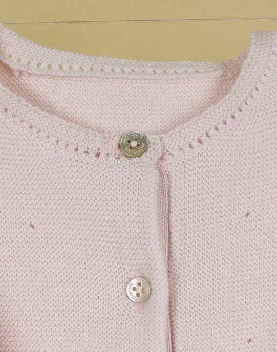 Cardigan rose tendre fille TURENNE 19 / 19VV2271N11307