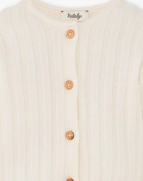 Gilet tricot vanille en laine mérinos DOLLY 21 / 21PV2411N12114