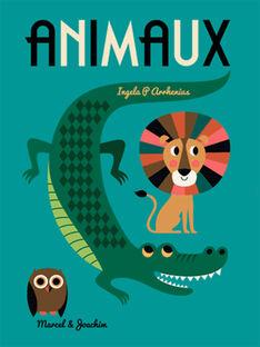 """Livre """"Animaux"""" Marcel  & Joachim multicolore  46,5x34x0,16 cm dès 3 ans ANIMAUX / 19PJME009LIB999"""