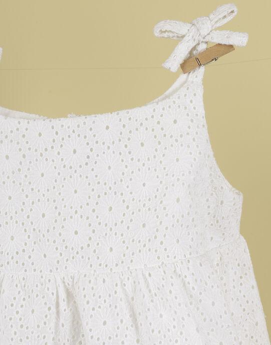 Robe blanche brodée fille TELINA 19 / 19VU1935N18000