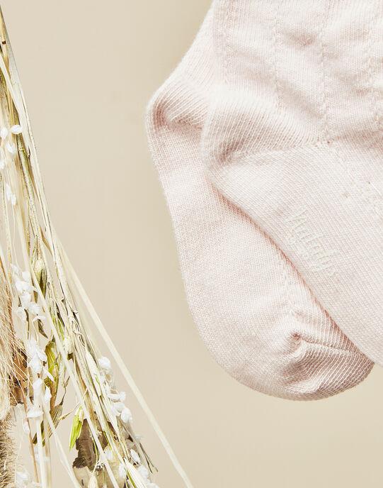 Chaussettes rose tendre bébé fille  VOLPHA 19 / 19IU6011N47307