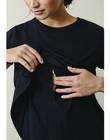T-shirt de grossesse & allaitement coton bio Boob noir BOTSHIRT BLACK / PTXW2611N3D090