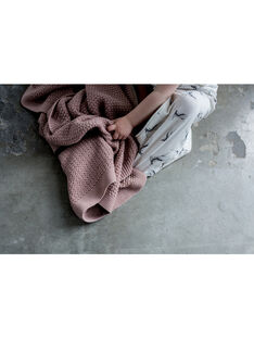 Couverture tricot Mies & Co rose pâle 80x100 cm 0-6 mois COUV TRICOT ROS / 19PCTE007DEL999
