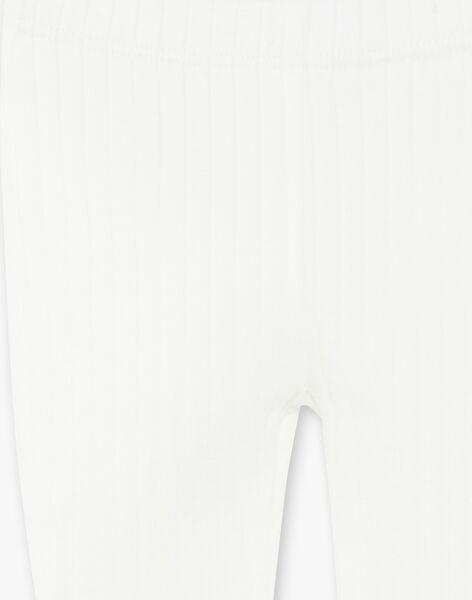 Leggings fille vanille en côte plate   CORELYSE 21 / 21VV2211N04114