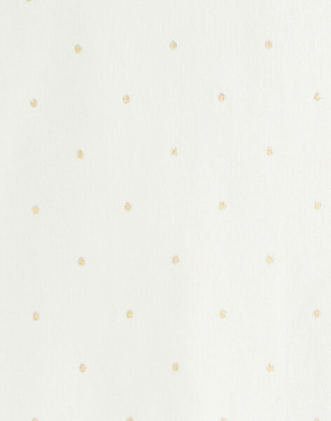 Body fille en interlock coton pima vanille en imprimé pois irrisé doré  BULLE 20 / 20IU1951N67114