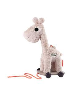Jouet à tirer girafe Raffi Done By Deer rose 15x30x22 cm dès 1 an JOU TIRER RAFFI / 19PJJO023AJV999
