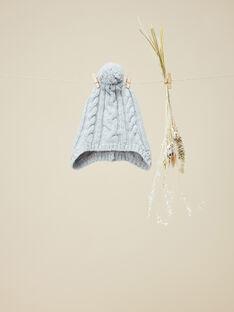 Bonnet en tricot gris chiné garçon  VARAM 19 / 19IU6131N49943