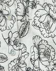 Blouse fleurie en twill écru chiné fille  VAJULIE 19 / 19IU1936N09006