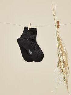 Chaussettes noires bébé fille  VODILIE 19 / 19IU6013N47090