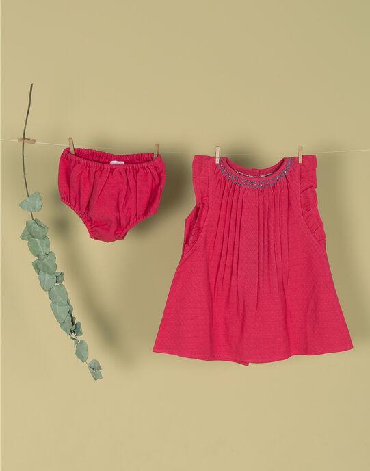 Robe sans manches brodée et bloomer rose fille TEANA 19 / 19VU1931N18304