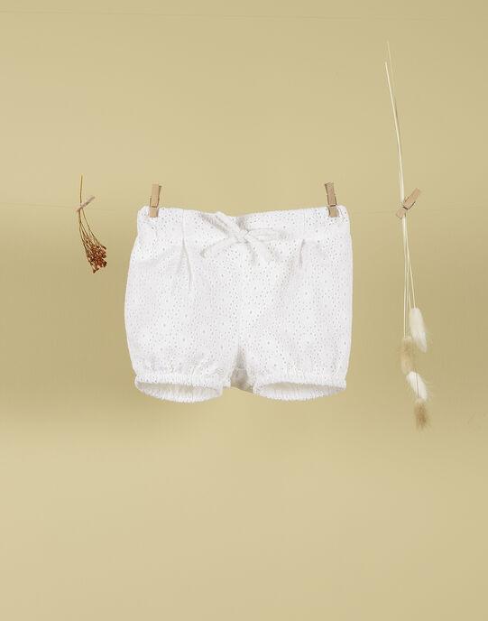Short brodé blanc fille TEMELINE 19 / 19VU1933N02000