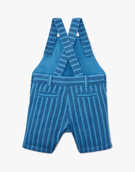 Salopette courte a rayure bleu moyen garçon  AMSTERDAM 20 / 20VU2023N06201