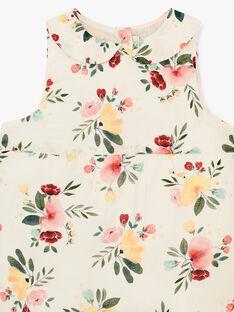 Combinaison courte fille vanille en imprimé fleurs   ANGELIQUE 20 / 20VU1921N26114
