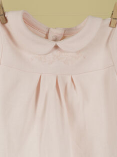 Blouse rose tendre fille TIMBALE 19 / 19PV2221N0F307