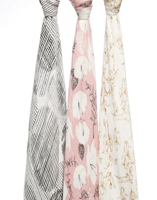 Pack de 3 maxi-langes Pretty Petals 120 x 120 cm 3 LANGES PRETTY / 19PSSO002AHY999