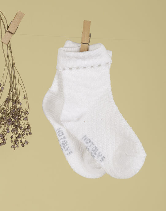 Chaussettes blanches fille TISSIEMA 19 / 19VU6023N47000