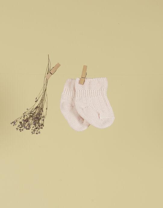Chaussettes rose tendre fille TALENTILLE 19 / 19PV6821N47307